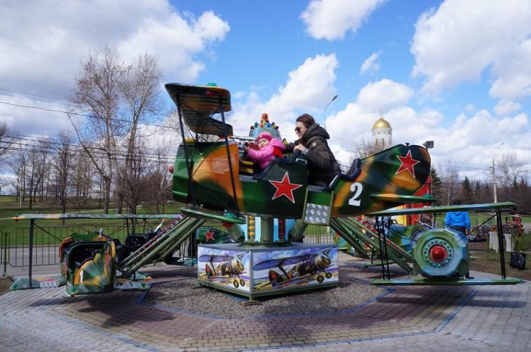Аттракционы в Парке Победы на Поклонной горе